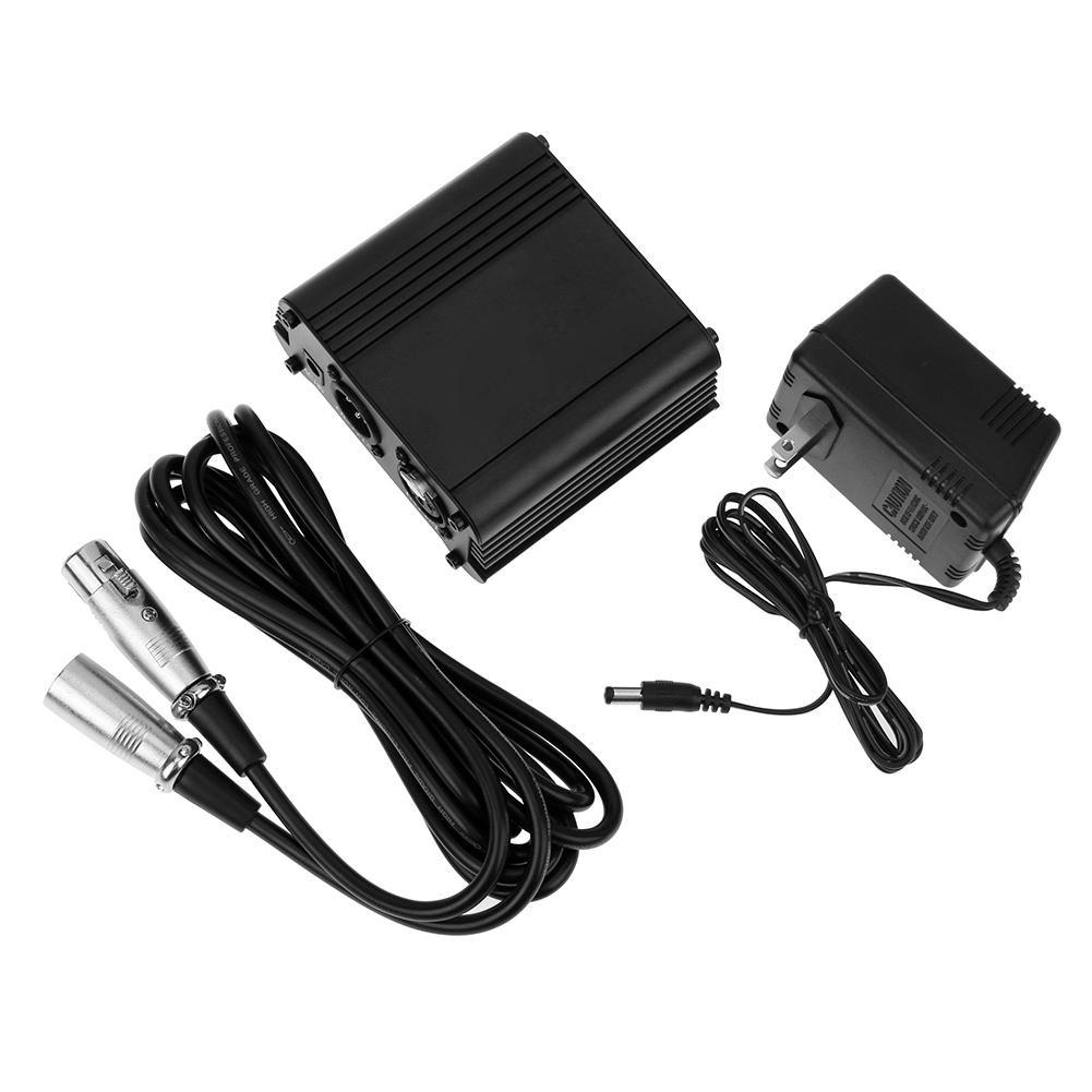 48V Fashion Microphone Phantom Power Supply 2.5M/8.2ft XLR Cable Line Giá chỉ 520.000₫