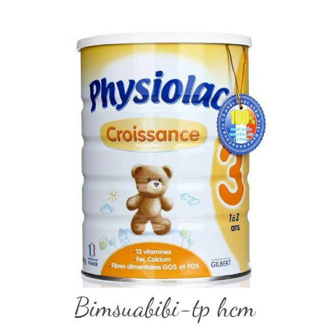 Sữa Physiolac 3 hộp 900gr
