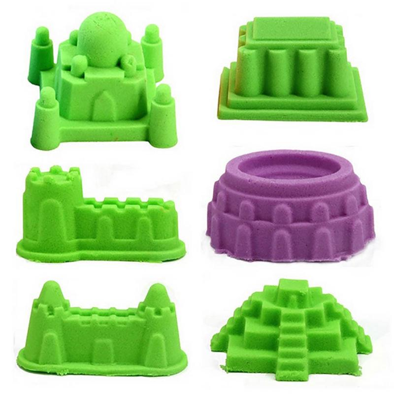 6X Magic Sand Mold Children Funny Indoor Play Toy Mould Castle DIY Set XMAS GIFT