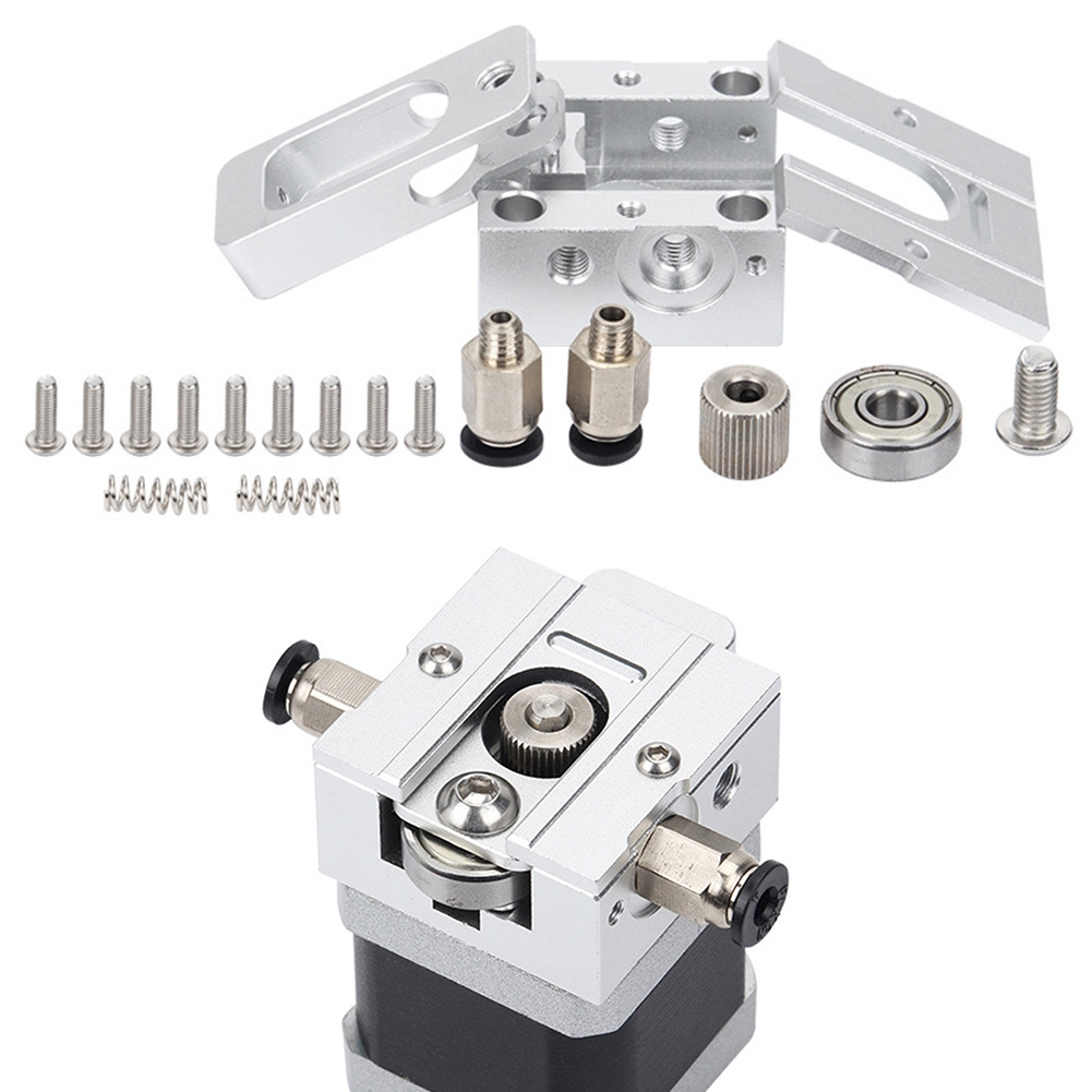 Compatible With 3D J-head MK8 Extruder Printer Accessories DIY All-metal Silver 1.75 3mm Parts Set