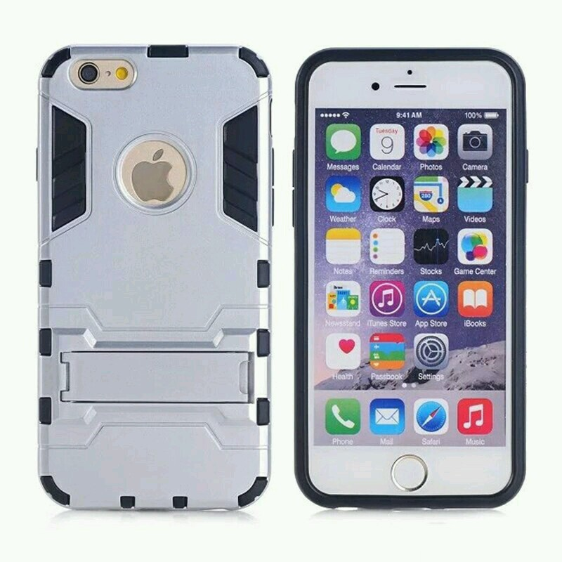 Ốp lưng chống sốc Iron Man cho iPhone 6 Plus / 6S Plus (Bạc)