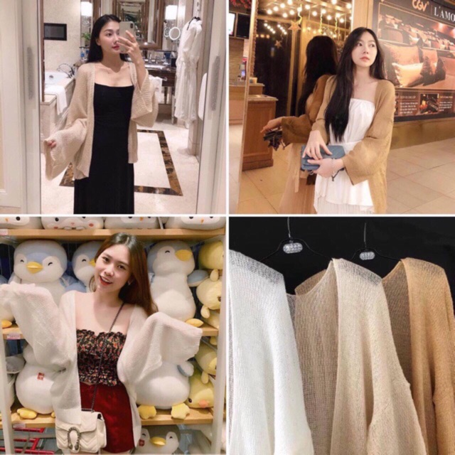 Áo cardigan len mỏng nữ hàng Quảng Châu SIÊU ĐẸP