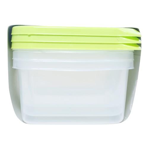 Bộ 3 hộp nhựa chữ nhật CHEF Microban 1050ml