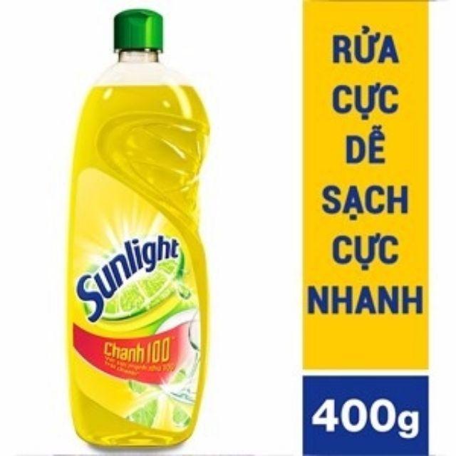 Nước rửa chén Sunlight Chanh 100 chai 400g