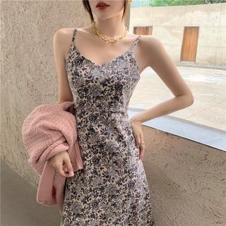 Đầm Hai Dây Hoạ Tiết Hoa Phong Cách Retro Quyến Rũ thumbnail