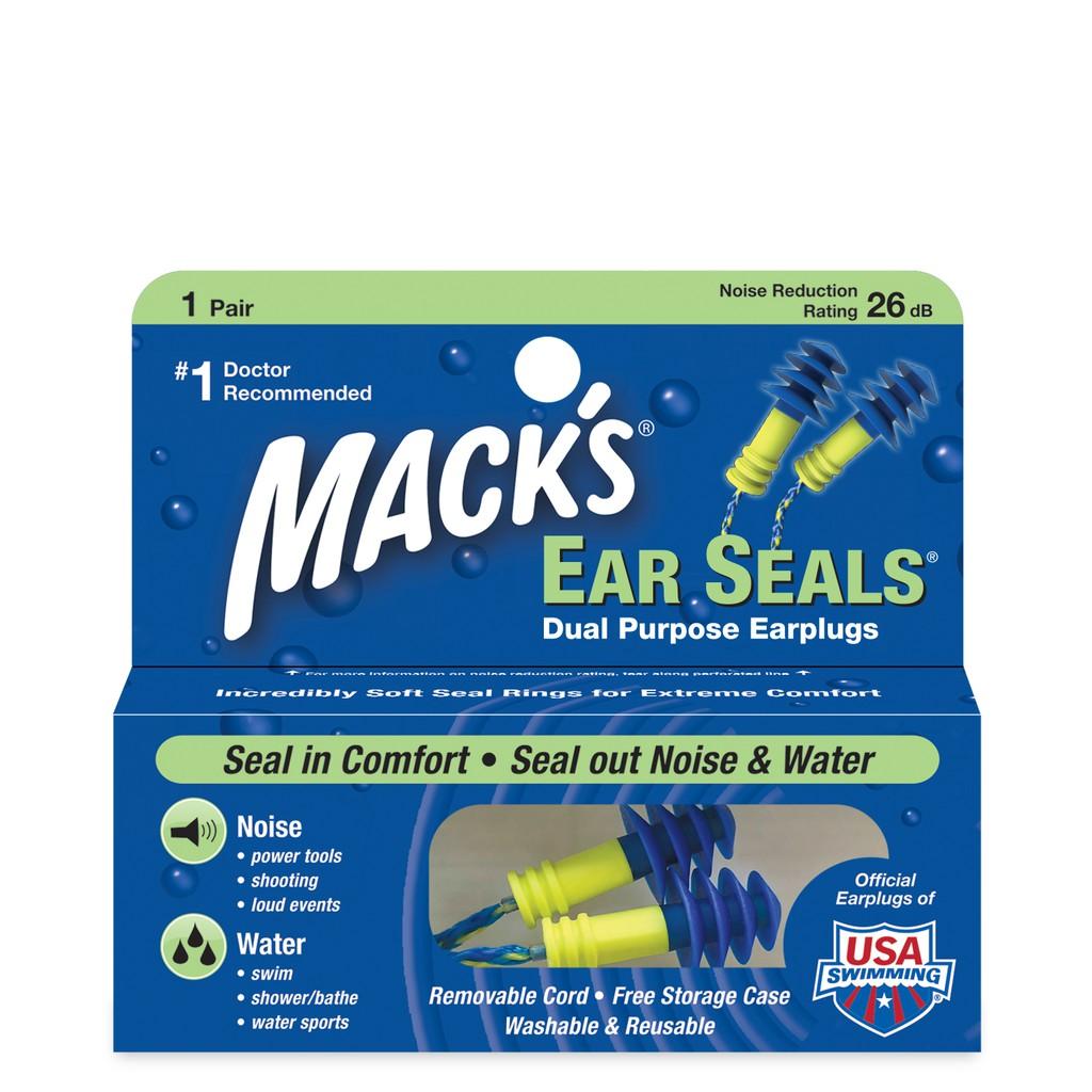 Hộp 1 đôi nút bịt tai Mack's Ear Seals 2 chức năng chống ồn,chống nước