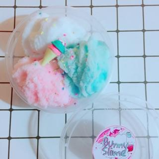 Cloud slime kem 3 màu cực tơi, có hương thơm kèm charm như hình, hộp 300ml cực to