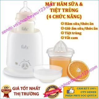 Mẫu mới Mua Là Có Quà Máy hâm sữa và thức ăn siêu tốc Fatz Baby 4 Chúc Năng thumbnail