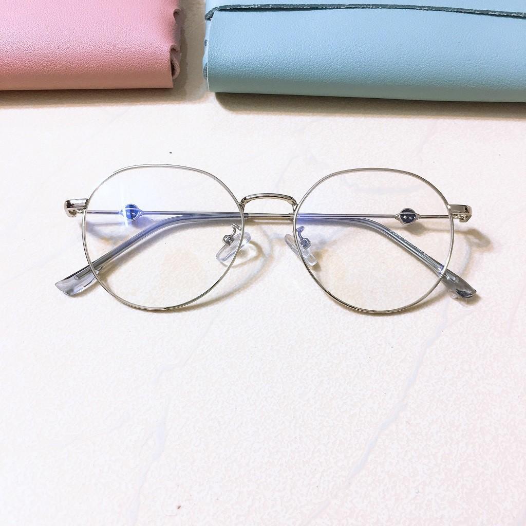 Gọng kính tròn 2990 -gọng kính giả cận thời trang nhận cắt mắt cận viễn loạn