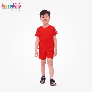 Bộ đồ ngắn tay bé trai KANDOO màu đỏ. chất liệu cotton cao cấp mềm mịn, thoáng mát, an toàn cho bé - DBSH1708