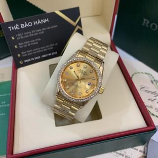 Đồng hồ nam RL2 - viền đá dây kim loại chống nước - DH501