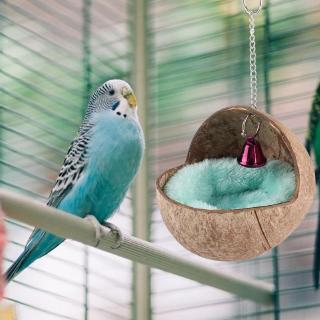 Natural Coconut Husk Bird Breeding Nest Bed Cage Hatching Nest with Mat