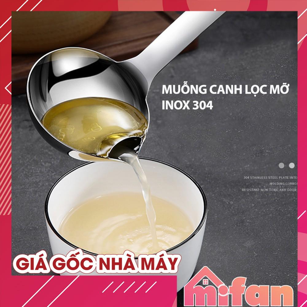 Muỗng Canh Lọc Dầu Mỡ Thông Minh Inox 304 - HÀNG CA