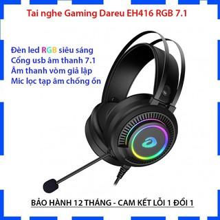 Tai nghe chụp tai DAREU EH416 RGB giả lập 7.1 cắm cổng USB