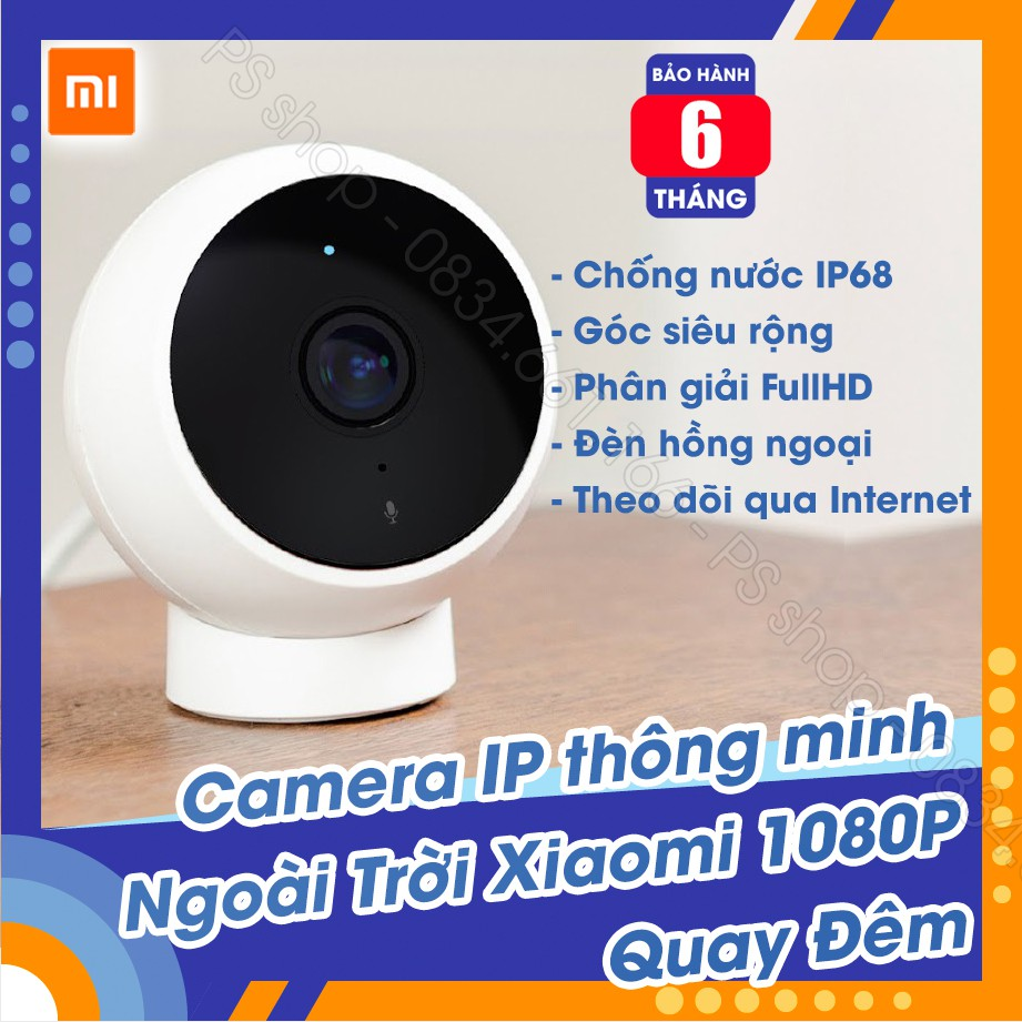 Camera IP thông minh Xiaomi 1080P, đế nam châm - Magnetic Mount MJSXJ02HL (Standard Version)