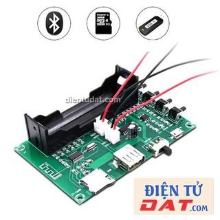 Mạch Khuếch Đại Âm Thanh Bluetooth - USB - Thẻ Nhớ 2*3W PAM8403 Tích Hợp Đế Pin 18650 - A150