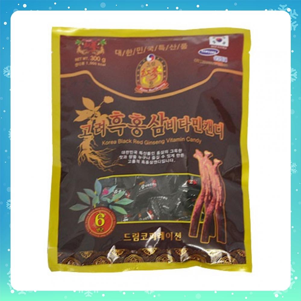 [Mã GRO2509 giảm 7% đơn 300K] Kẹo hắc sâm Hàn Quốc gói 300g tăng cường sức khỏe thơm miệng thích hợp làm quà biếu tết
