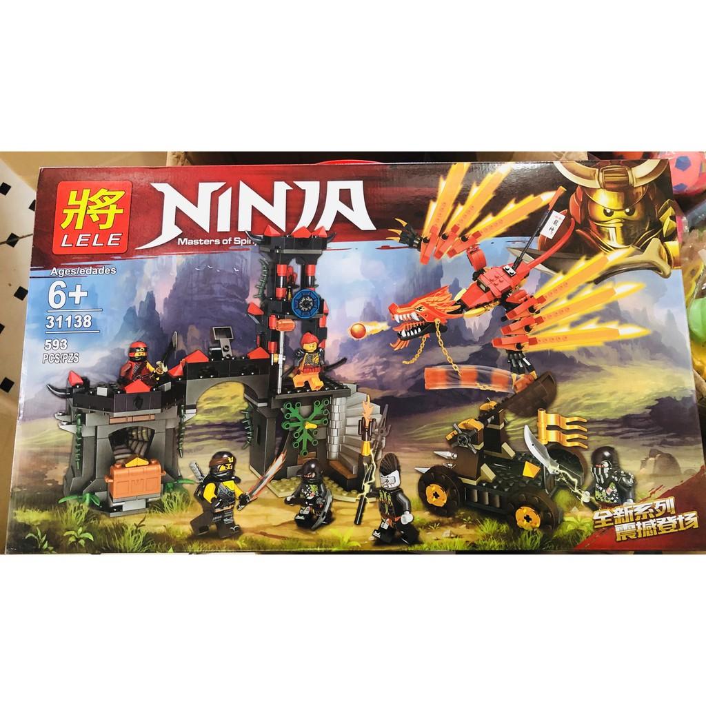 Bộ lego lele xe rồng bắn cầu lửa (593 chi tiết)
