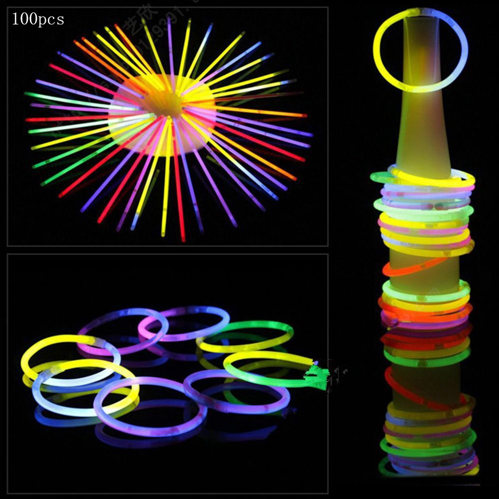 100pcs Magic Colorful Party DIY Weeding Fluorescence Sticks