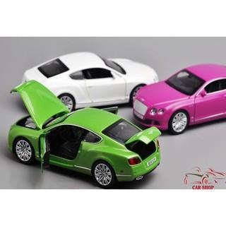 Xe mô hình giá rẻ Bentley Continental tỉ lệ 1:32 màu xanh
