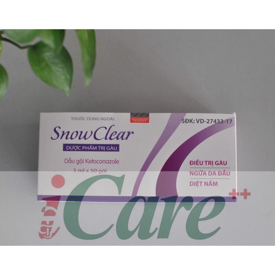 DẦU GỘI TRỊ GÀU SNOW CLEAR GÓI 5ML