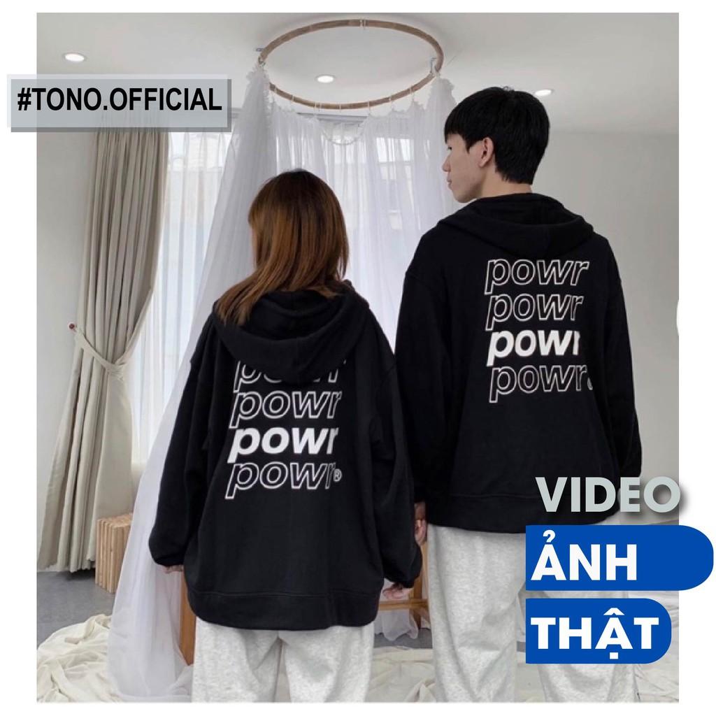 Áo hoodie in hình POWER unisex, chất nỉ dày dặn trẻ trung dành cho nam nữ cao cấp