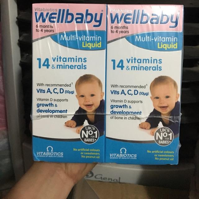 Wellbaby vitamin tổng hợp 6+ month (Nội địa Anh )