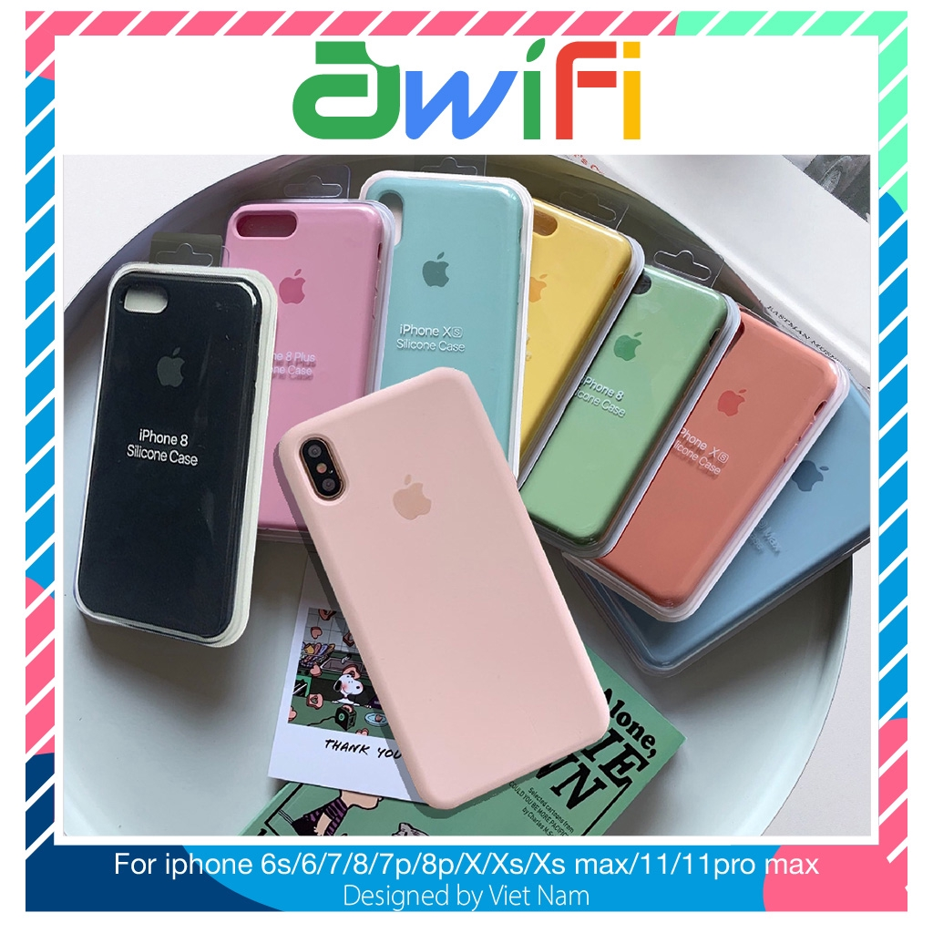 Ốp lưng iphone chống bẩn táo viền 5/5s/6/6plus/6s/6splus/7/7plus/8/8plus/x/xr/xs/11/12/pro/max/plus/promax - Awifi Case