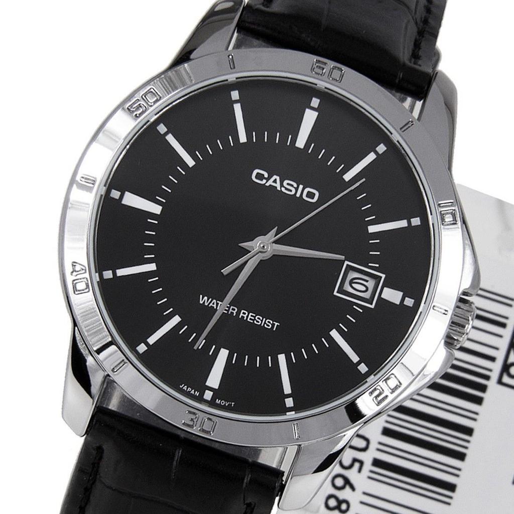 Đồng hồ nam CASIO chính hãng MTP-V004, dây da