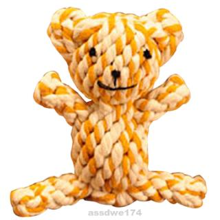 Braided Bear Cute Puppy Portable Teething Anti Bite Pet Supply Cotton Rope Chew Toy