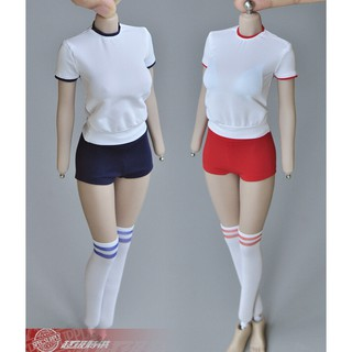 1/6 Student Sportswear Clothes Fit 12″ Female Phicen TBLeague Figure Body Toys