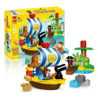 Hãng Gorock – Bộ Lego cướp biển và thuyền trưởng Jack tương thích lego duplo