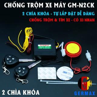 Chống trộm xe máy tự lắp 2 remote kết hợp chìa, có xi nhan GM-N2CK