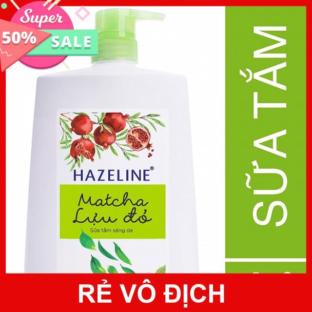 Sữa tắm Hazeline Matcha Lựu Đỏ 1,2kg