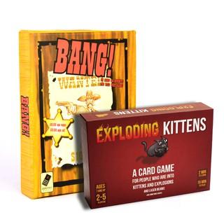 Set boardgame hay mèo nổ expoding kittens và bài bang