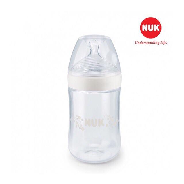 [Mã 77FMCGSALE giảm 8% đơn 500K] Bình Sữa Nuk Nature Sense Nhựa PP 150ml/260ml núm S1-M/S2-M Nhập khẩu Đức