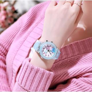 Đồng hồ trẻ em hình công chúa elsa có đèn led cao cấp - elsaled21 dành cho bé gái