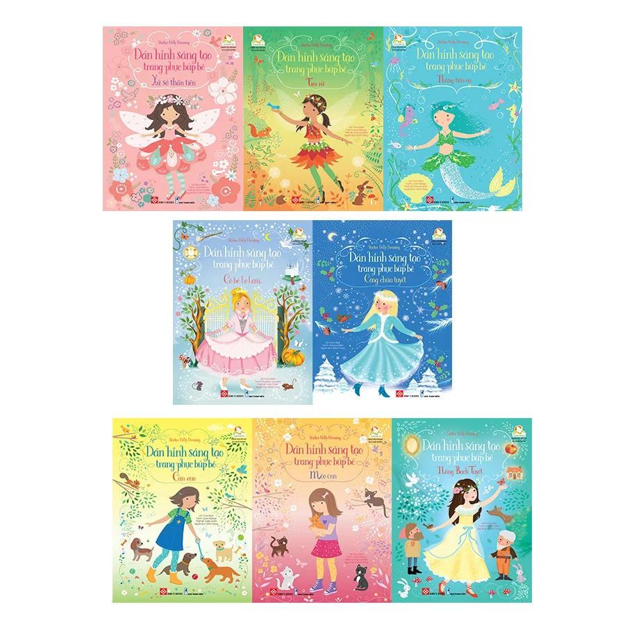 [Mã LIFE5510K giảm 10K đơn 20K] Sách Sticker Dolly Dressing - Dán hình sáng tạo trang phục búp bê (8 cuốn)