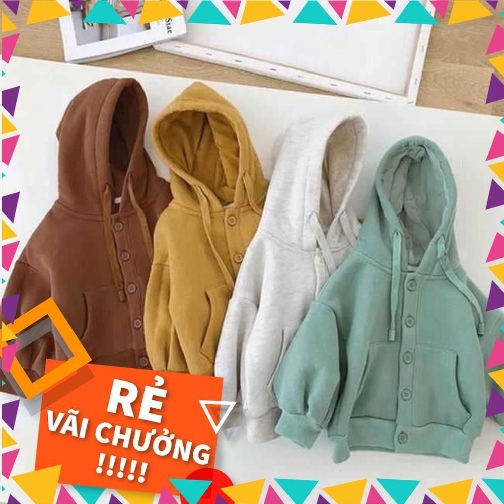 Áo khoác nỉ dáng hoodie chất liệu cao cấp 85k/Áo Xuất Hàn dành cho trẻ em (bé trai, bé gái từ 7kg - 25kg).