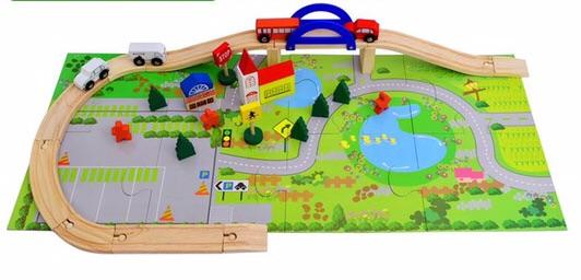 Đồ chơi gỗ - mô hình giao thông