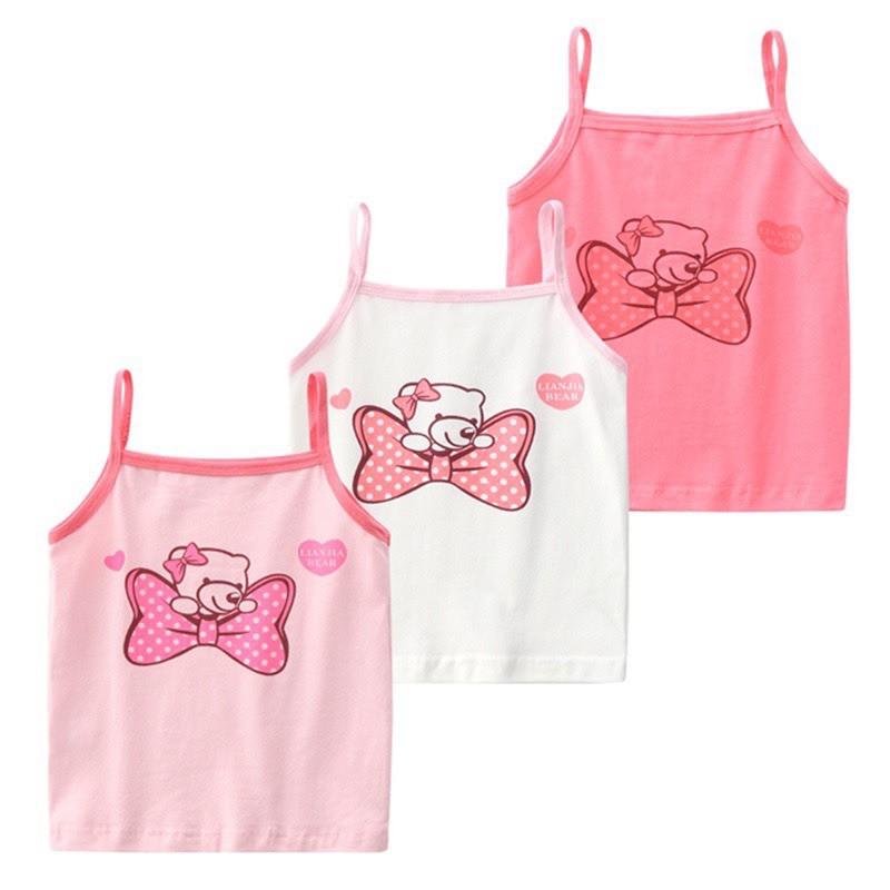 Quần áo trẻ em, áo 2 dây cho bé gái Quảng Châu cao cấp mặc mùa hè siêu mát Xu Xu Kids size từ 8 đến 20kg