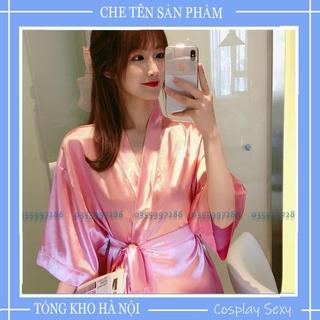 Áo Choàng Ngủ Phi Lụa Dáng Rộng Tay Lửng Chất Lụa Lạnh Thời Trang Xuân Thu Cho Nữ thumbnail