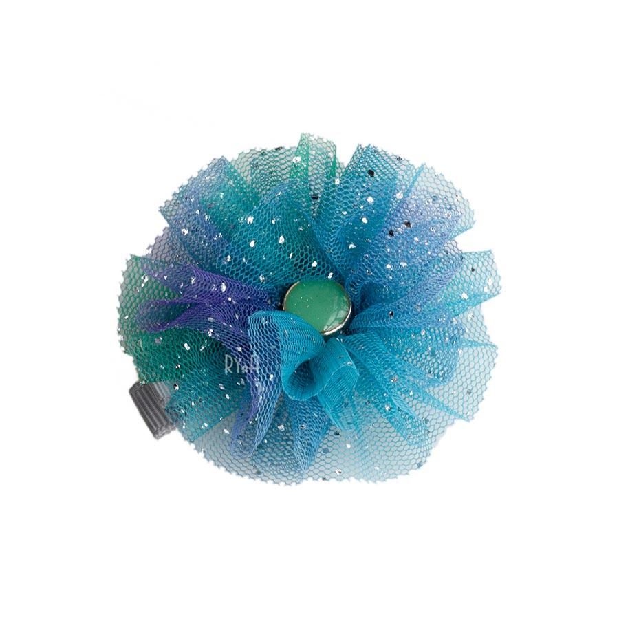 Kẹp tóc cho bé hoa voan lưới RYA 113331