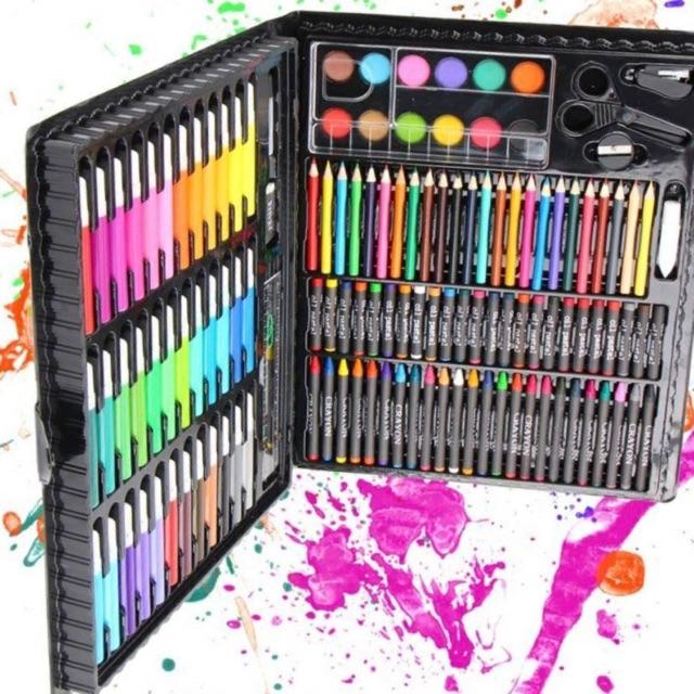 Hộp bút màu 150 chi tiết - 2942088 , 439075511 , 322_439075511 , 99000 , Hop-but-mau-150-chi-tiet-322_439075511 , shopee.vn , Hộp bút màu 150 chi tiết