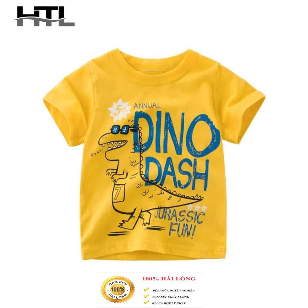 Áo phông cho bé trai mẫu khủng long dino