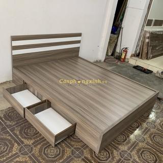 Giường ngủ gỗ cn MDF 2 hộc kéo CPX-G26