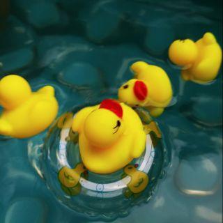 Vịt thả bồn tắm phát tiếng 1 Phao 4 con cho bé