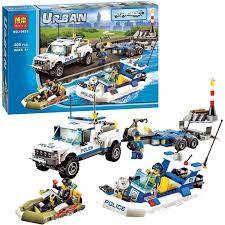 Bộ lego xếp hình Urban City Police 10421- Tàu tuần dương cảnh sát
