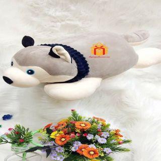 Gấu bông Chó Sói Mịn Nằm- Hàng nhập khẩu