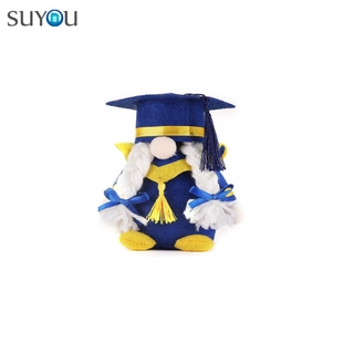 SUYOU Party Supplies Gnome Decorations Table Ornaments Class of 2021 Plush Gnomes Home Decor Gifts Handmade Toy Graduation
